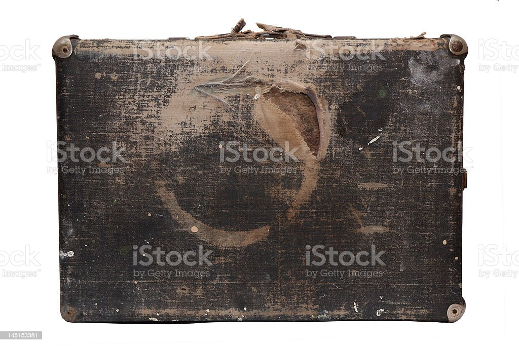 Old travel bag stock photo
