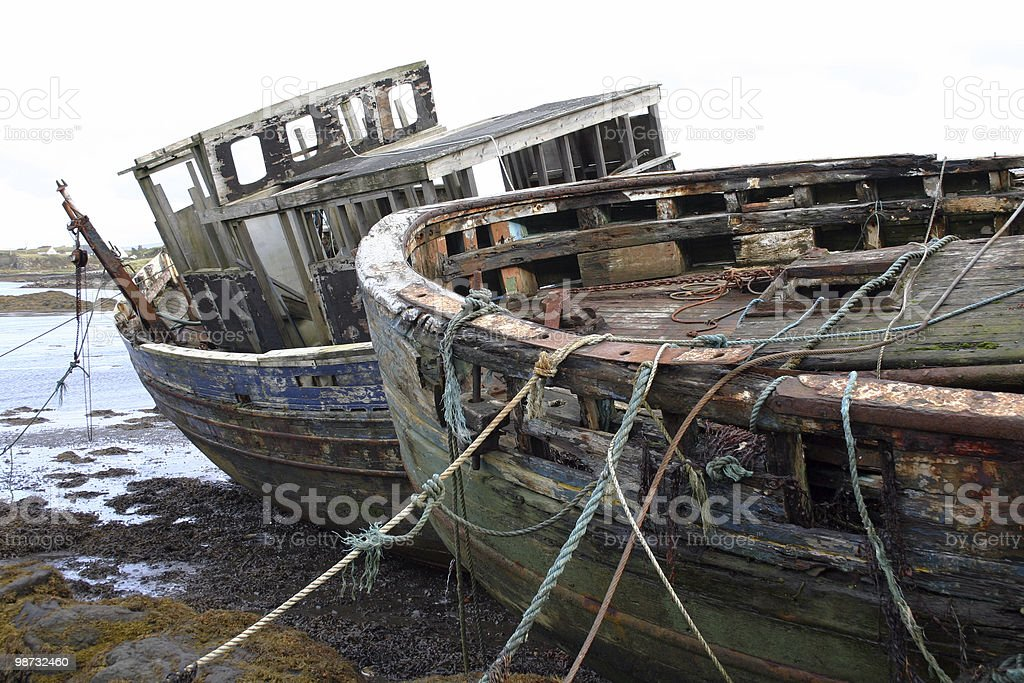 Old Trawlers royalty-free stock photo