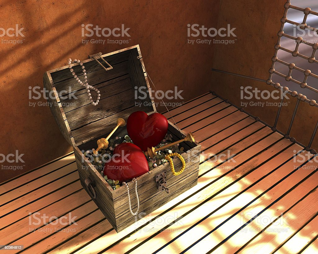 Old treasure chest royalty-free stock photo