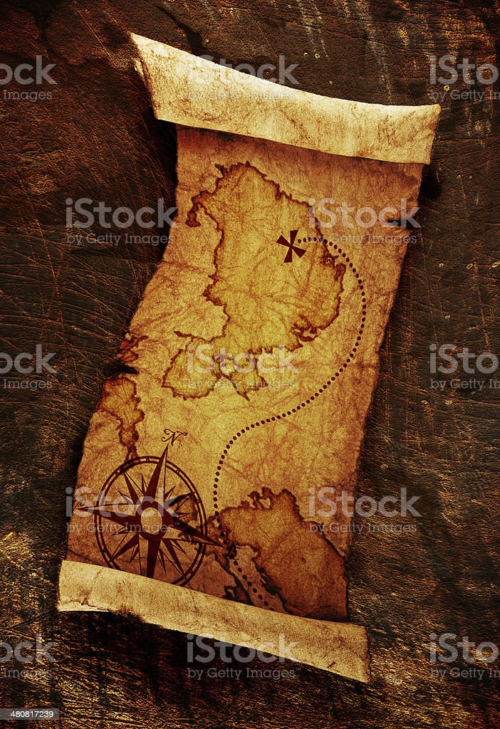 old treasure map royalty-free stock photo
