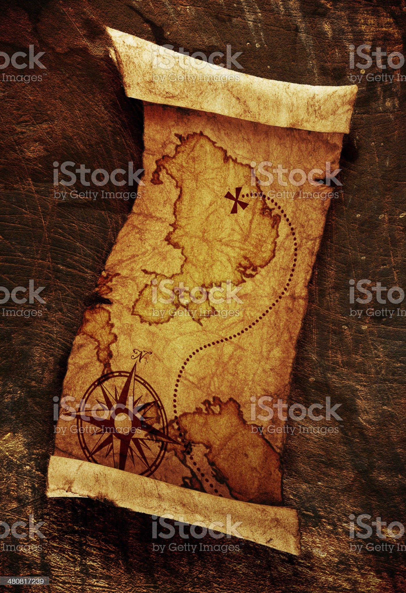 old treasure map royalty-free stock photo
