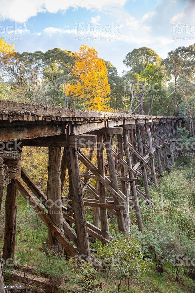 Old Trestle Bridge in Koetong stock photo