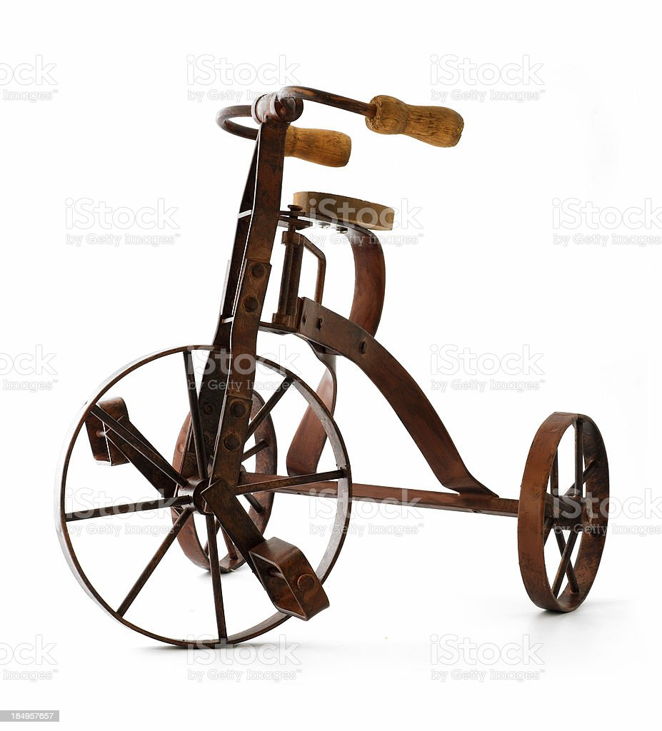 old tricycle royalty-free stock photo