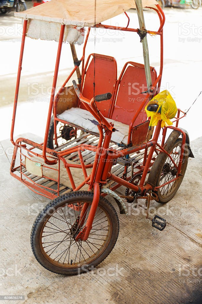 old tricycle-sipalay-philippines stock photo
