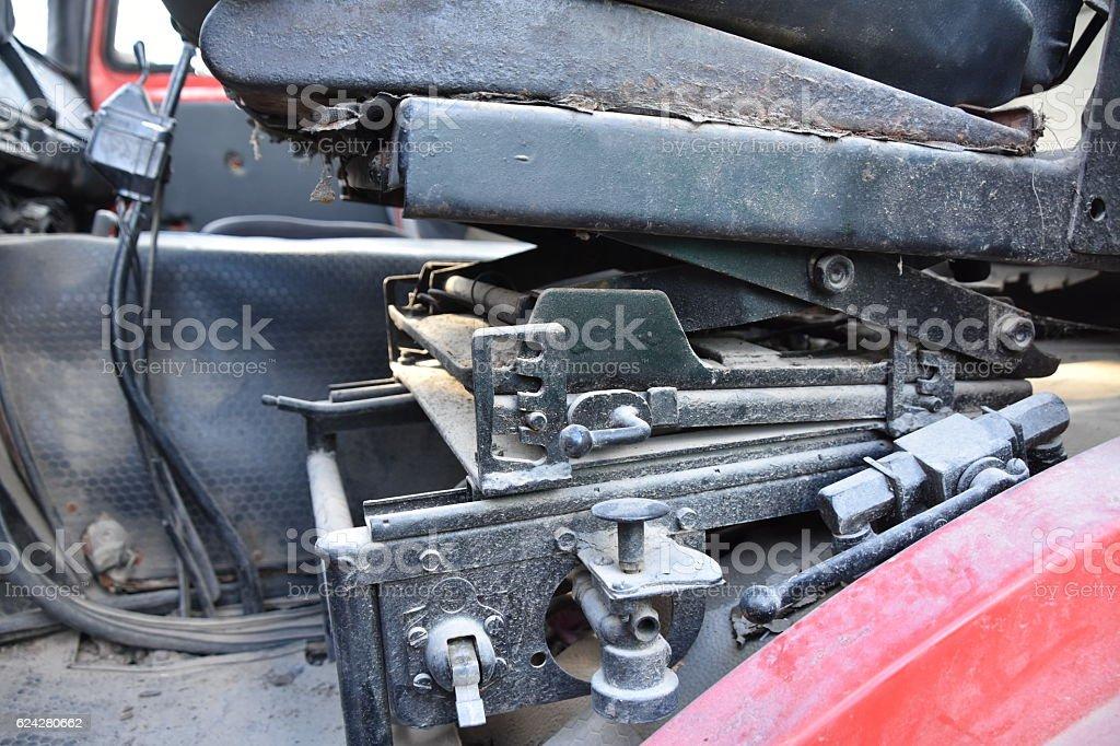 Old Truck Ergonomic chair stock photo