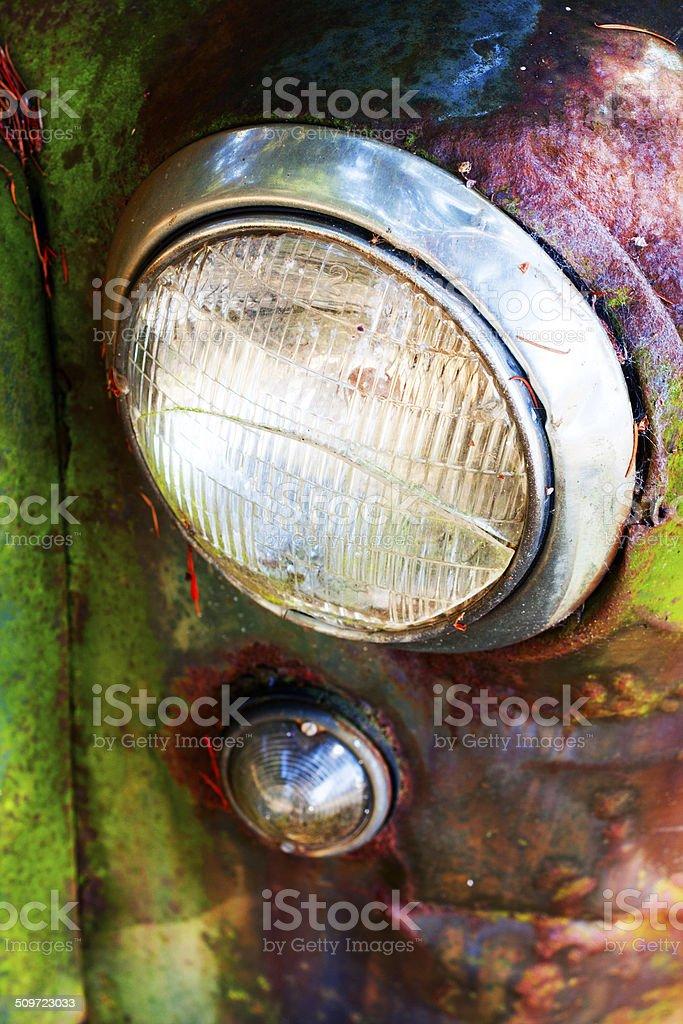Old Truck Headlight royalty-free stock photo