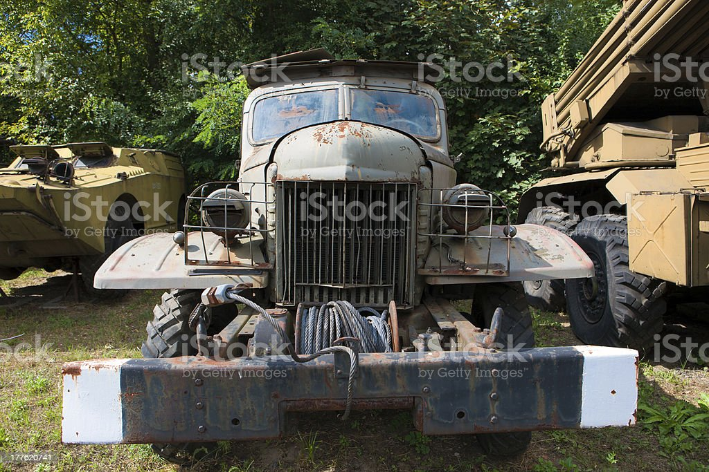 Old truck of World War II royalty-free stock photo