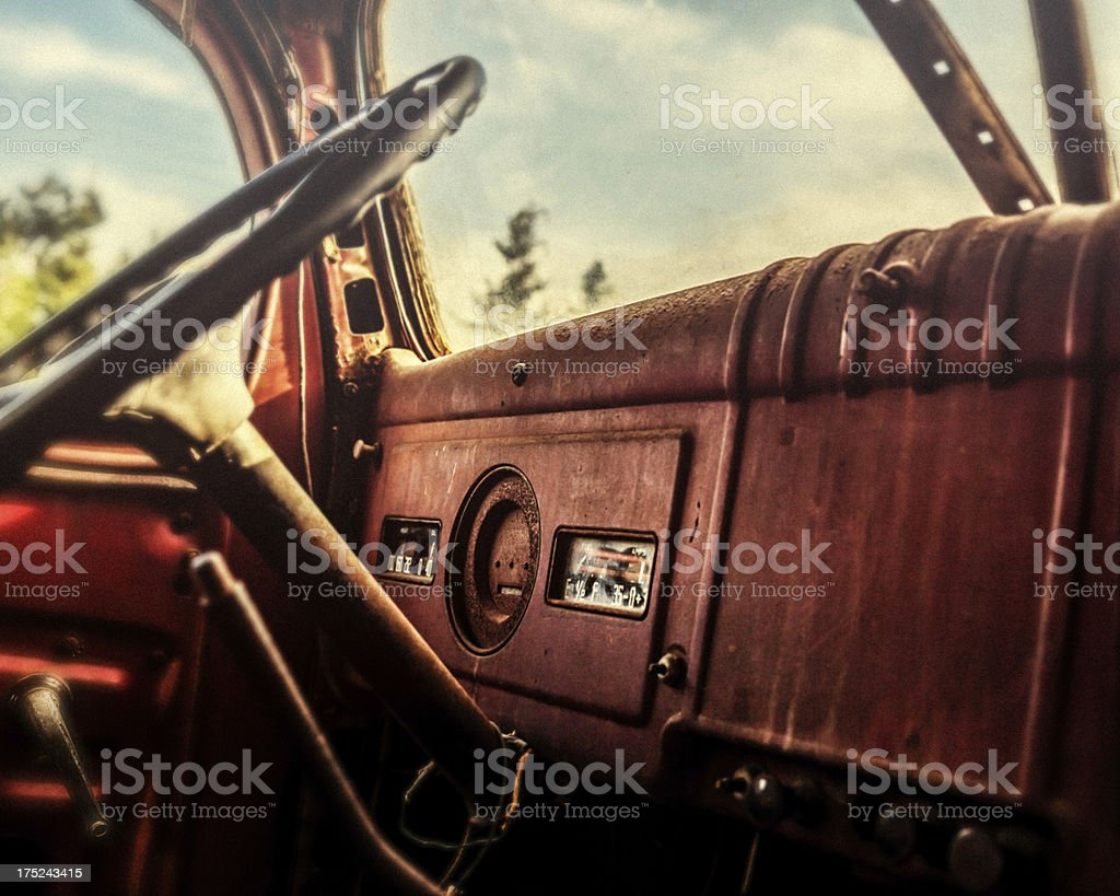 Old truck stock photo