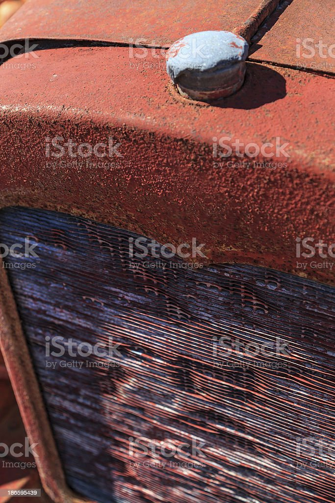 Old Truck Radiator and Grille stock photo