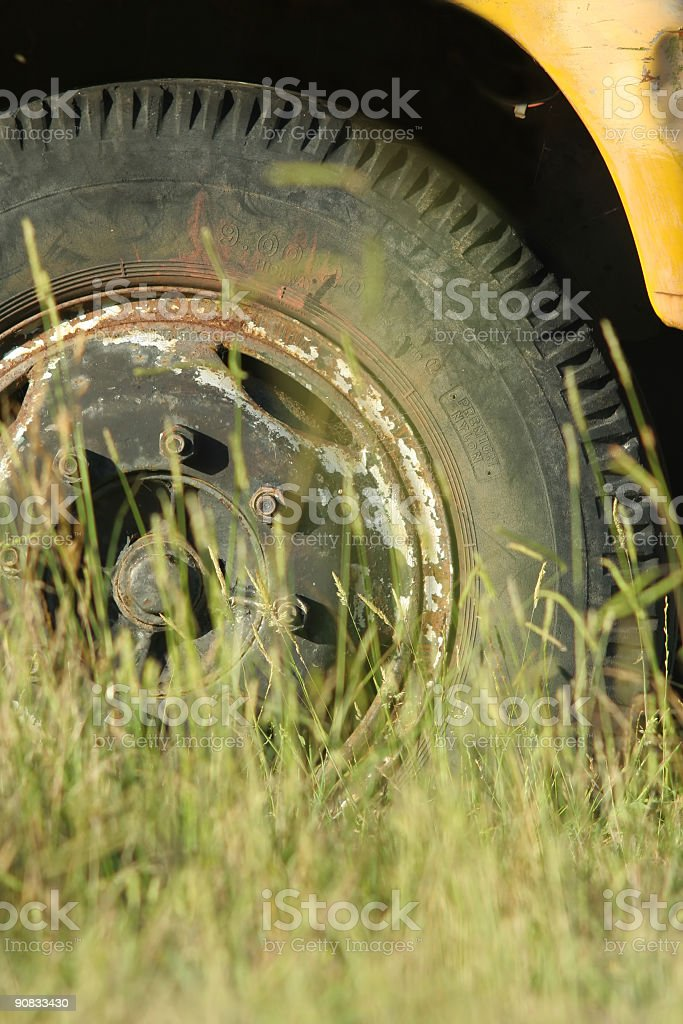 Old truck tyre royalty-free stock photo
