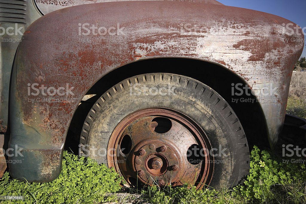Old Truck Wheel royalty-free stock photo