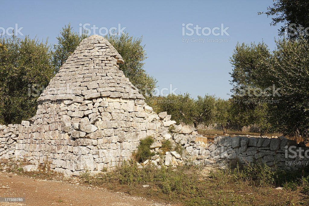 Old Trulli building in Puglia, Italy royalty-free stock photo