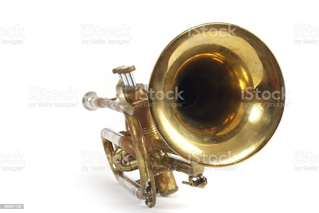 old trumpet royalty-free stock photo