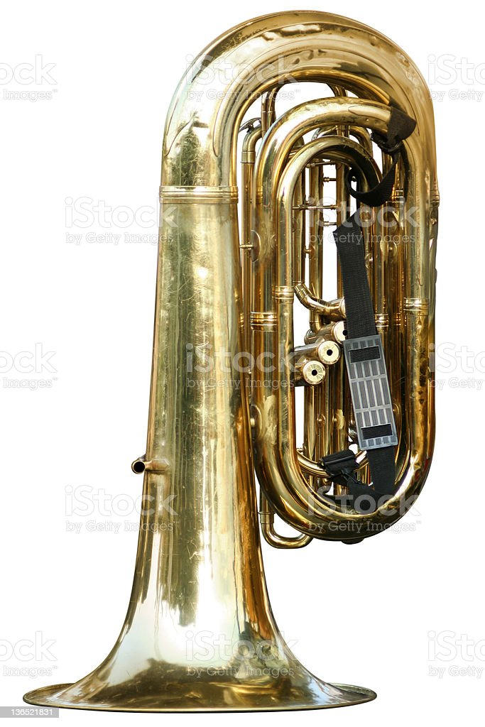 Old tuba stock photo