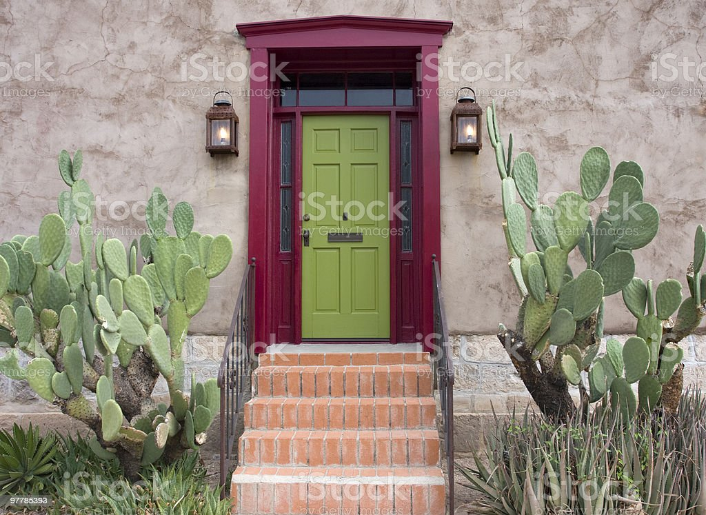 Old Tucson, house entrance stock photo