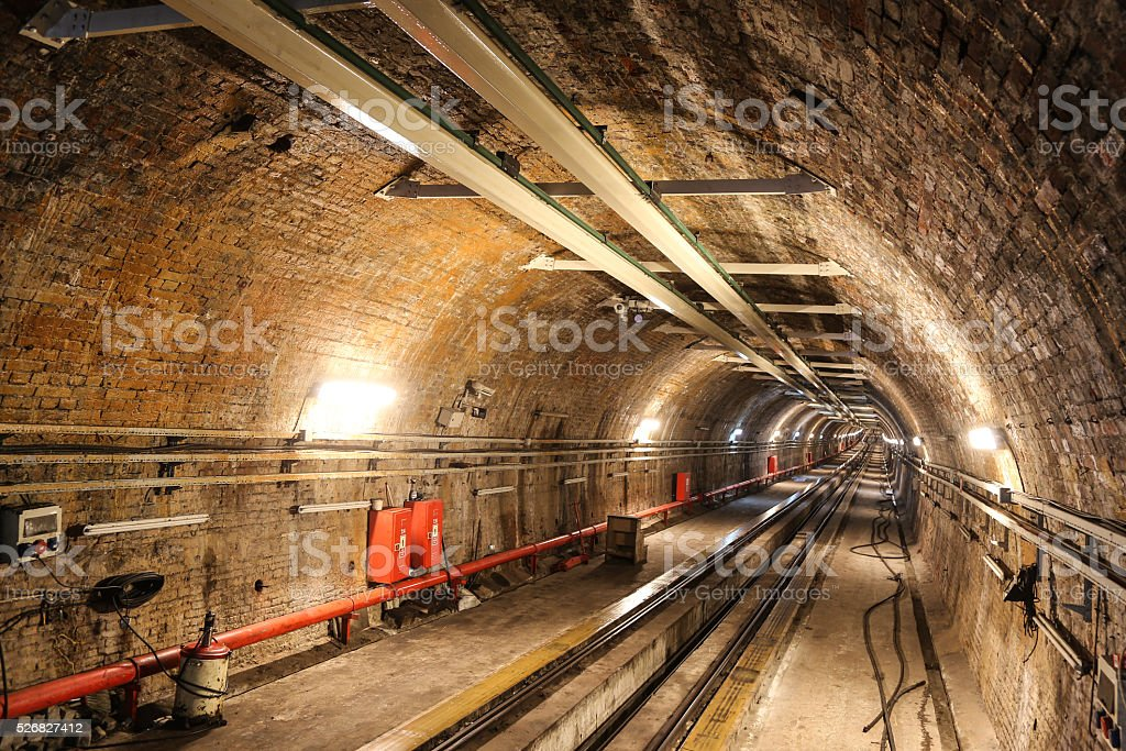Old Tunnel Line from Karakoy to Istiklal Street, Istanbul stock photo