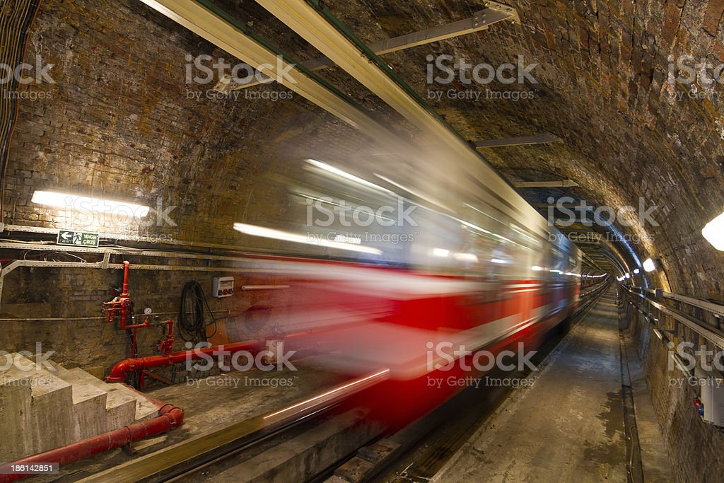 Old Tunnel Line royalty-free stock photo