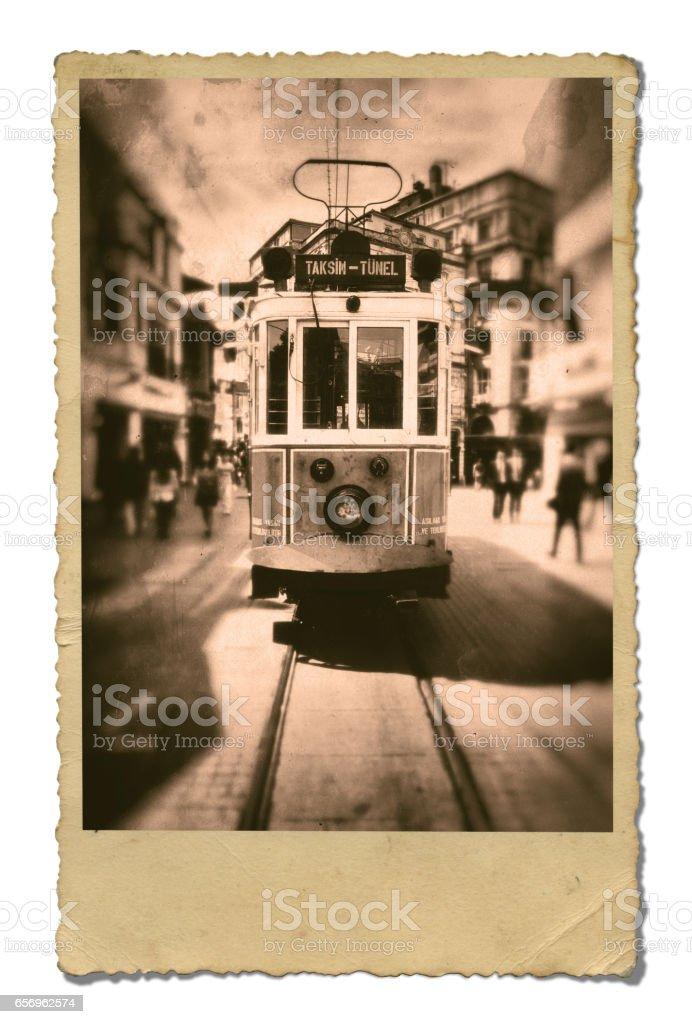 Old Turkey Photo. Isolated on White Background. stock photo