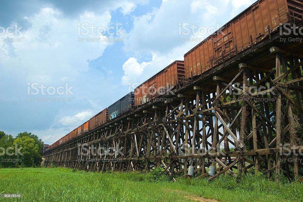 Old Tuscaloosa Railroad Trestle stock photo