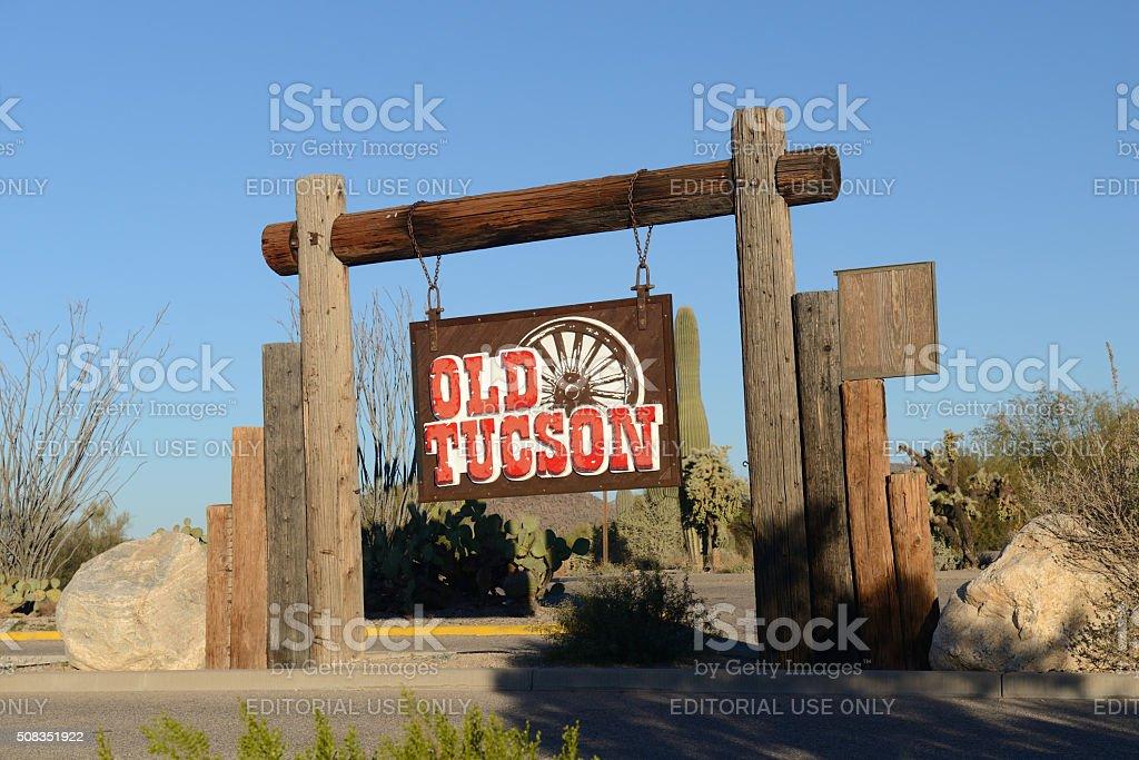 Old Tuscon stock photo