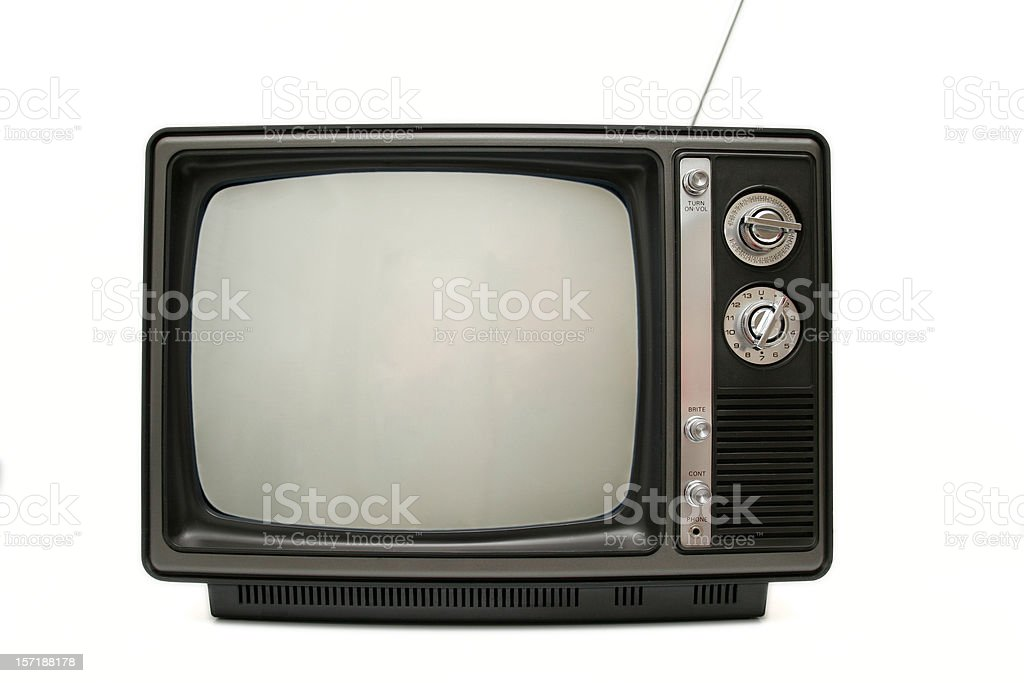 Old TV - Blank Screen royalty-free stock photo