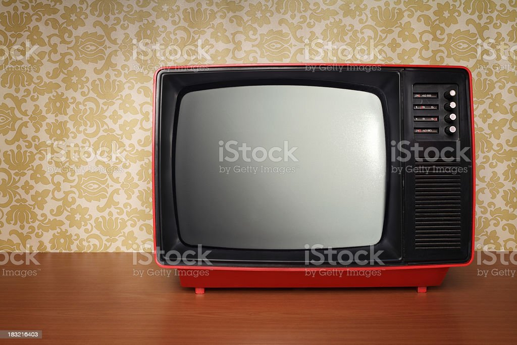 Old TV in Retro Style royalty-free stock photo