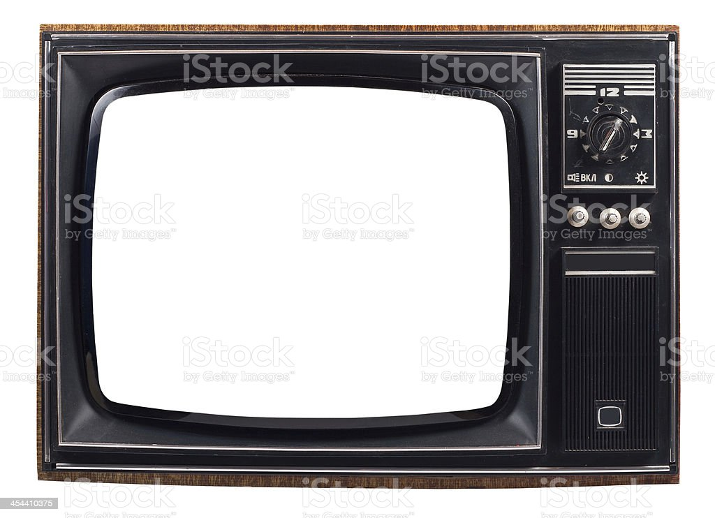 old TV royalty-free stock photo