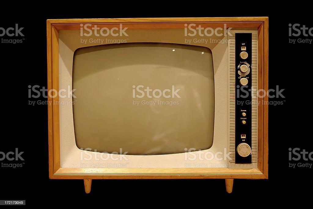 Old tv set royalty-free stock photo