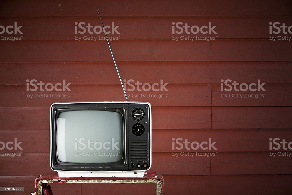 Old TV set royalty-free stock photo