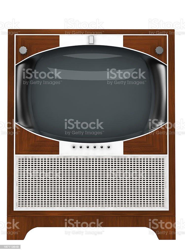 old tv set stock photo