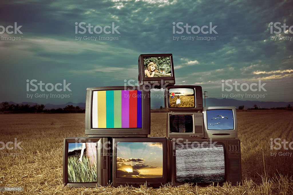 Old TV Show stock photo