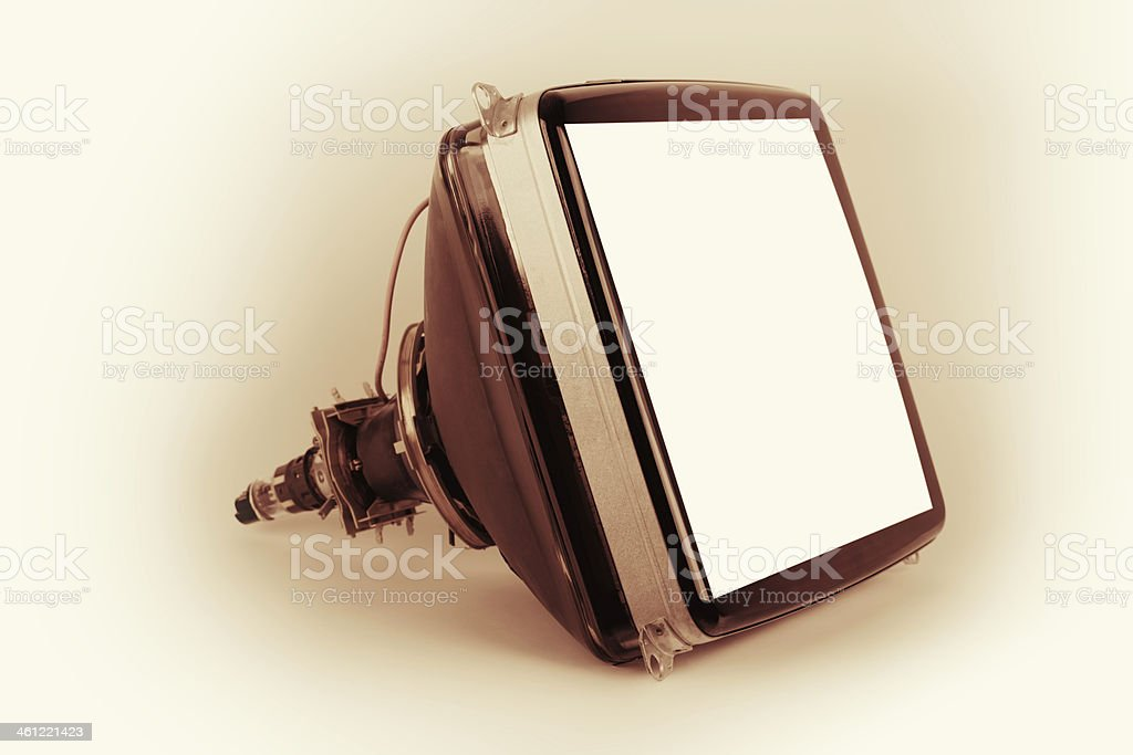 Old tv tube stock photo