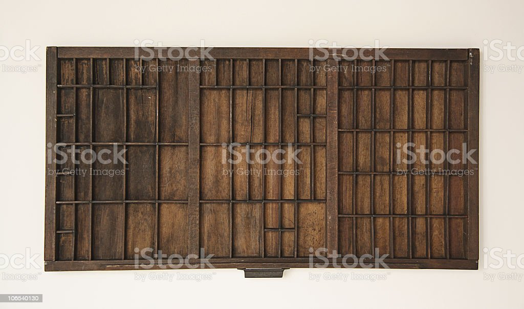 Old Type Drawer stock photo