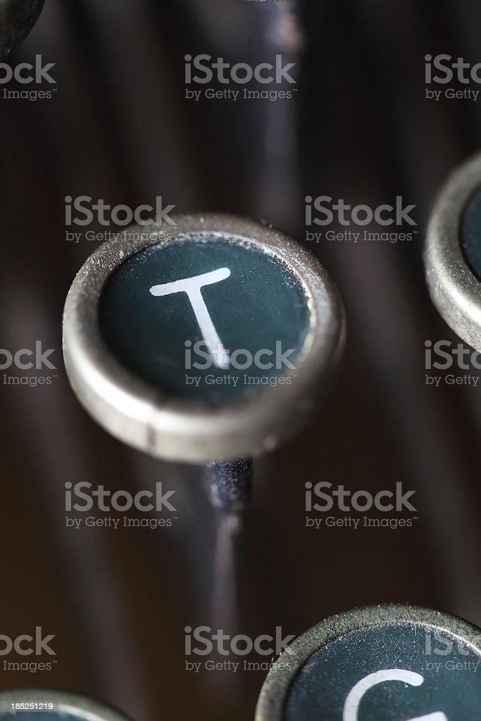 Old Type Key T royalty-free stock photo