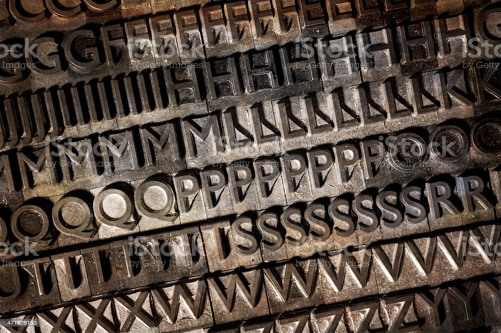 Old typeface background royalty-free stock photo