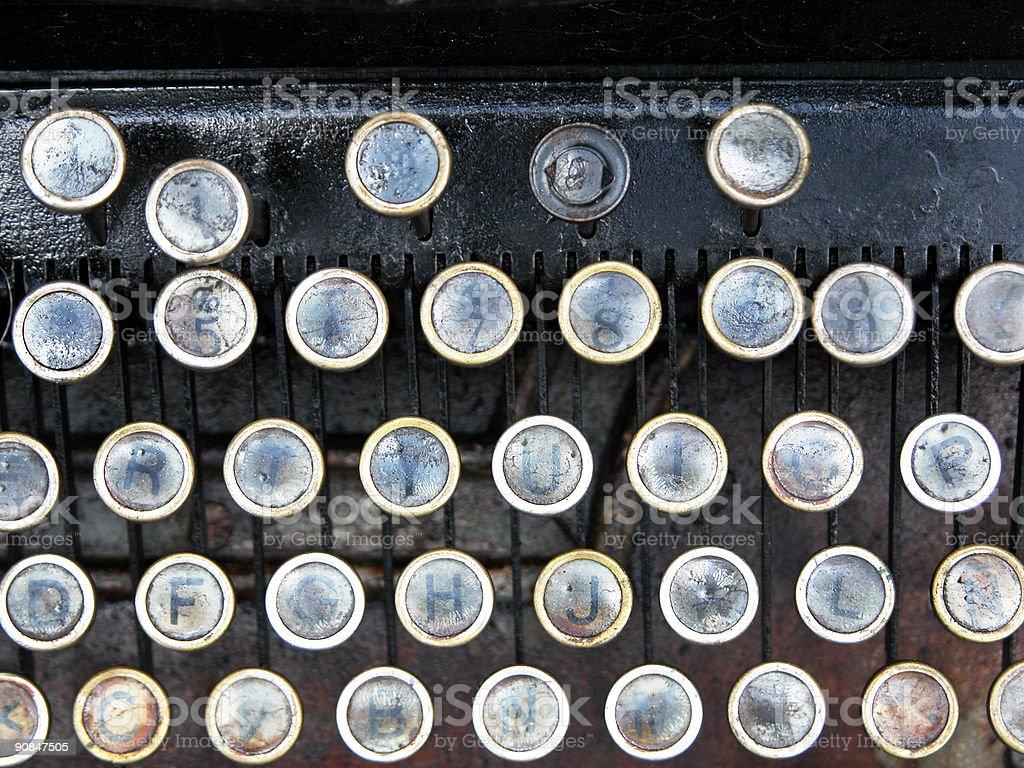 old typewriter closeup royalty-free stock photo