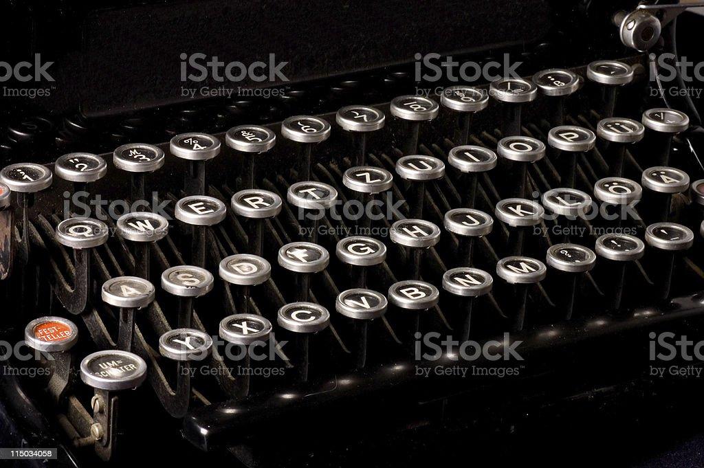 Old typewriter, deadline text stock photo
