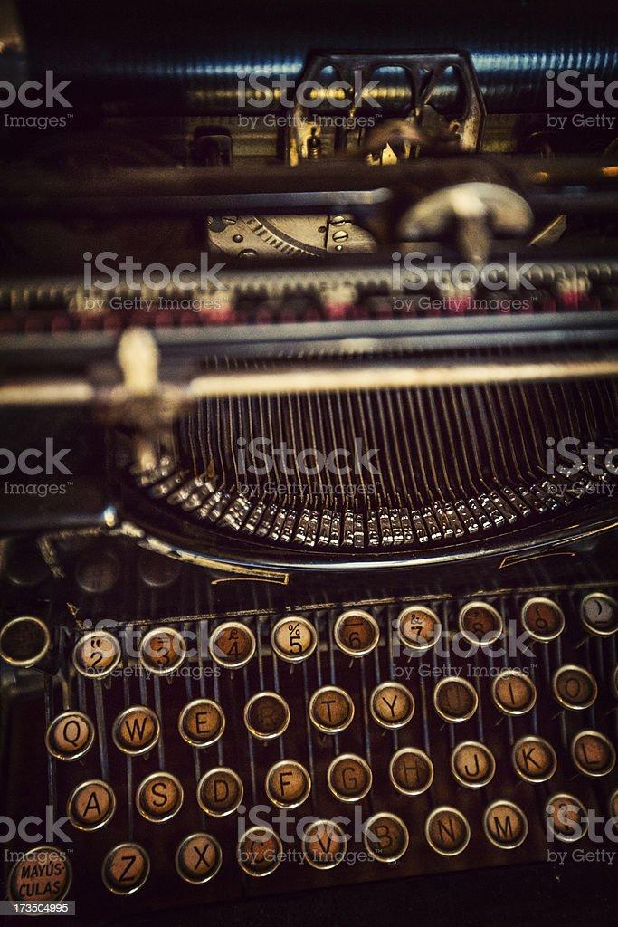 old typewriter detail royalty-free stock photo
