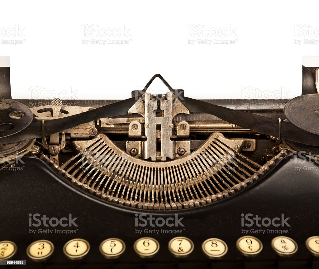 Old Typewriter for Copy Space stock photo