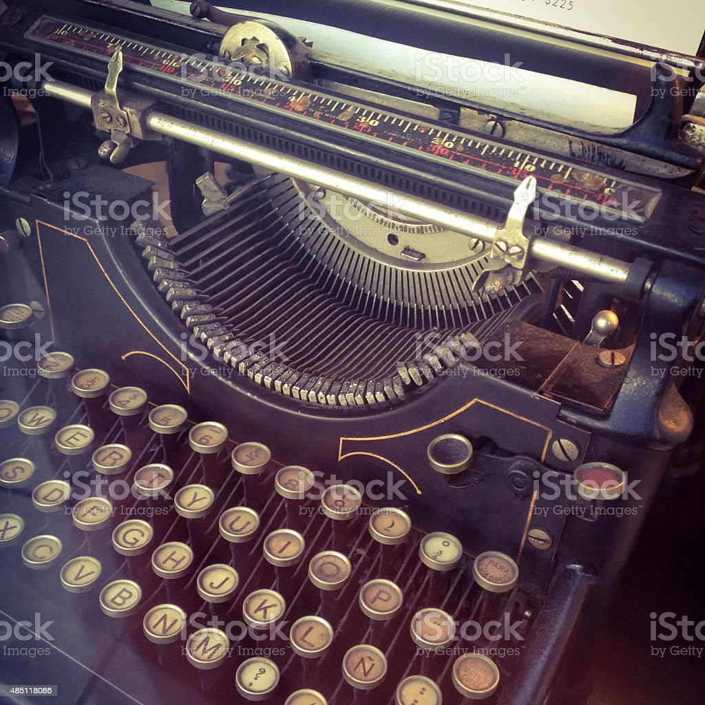 Old typewriter for sale stock photo