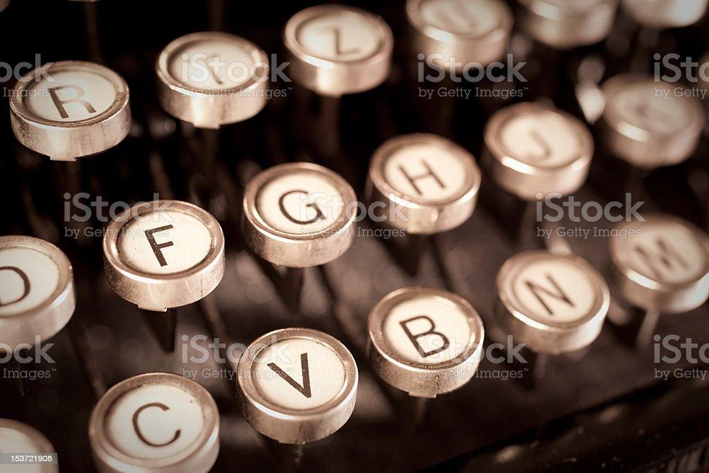 old typewriter keys royalty-free stock photo