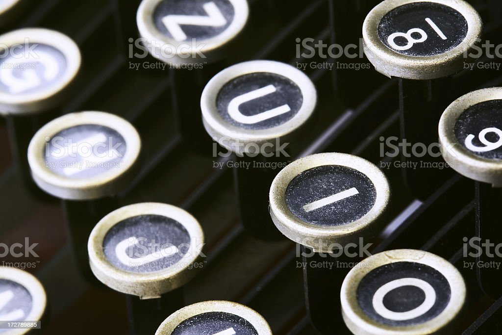 Old Typewriter Keys royalty-free stock photo