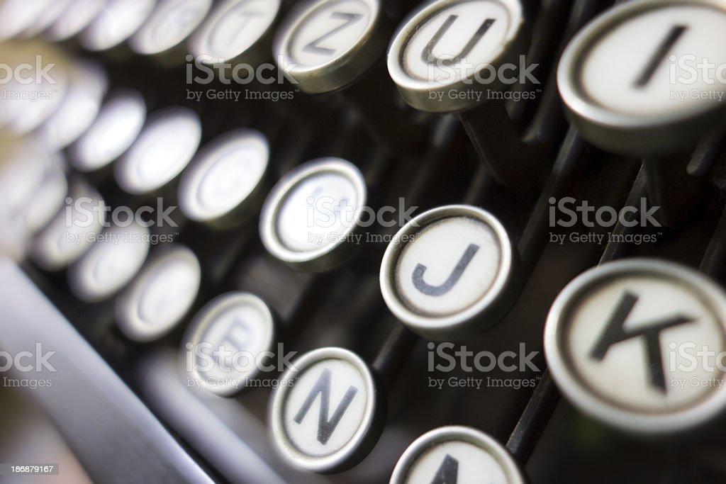 Old typewriter - keys royalty-free stock photo