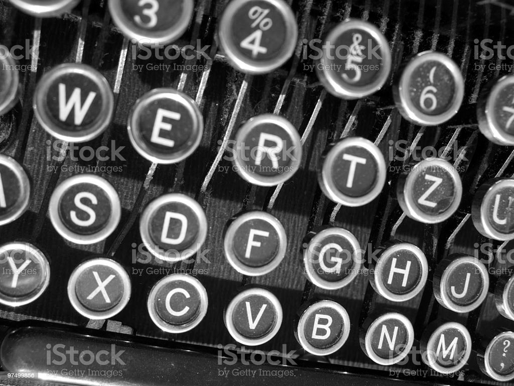Old Typewriter Keys stock photo