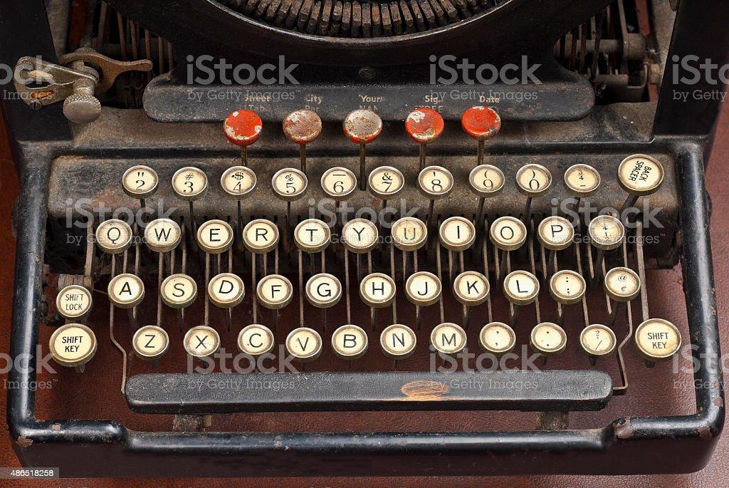 Old typewriter machine stock photo