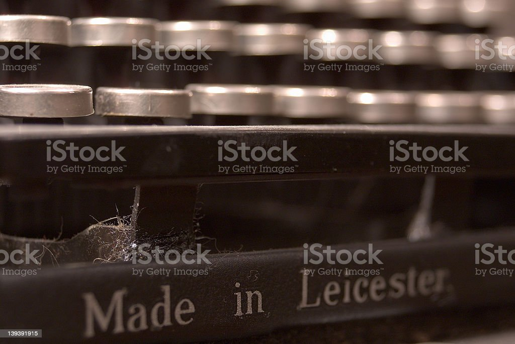 Old typewriter - made in Leicester royalty-free stock photo