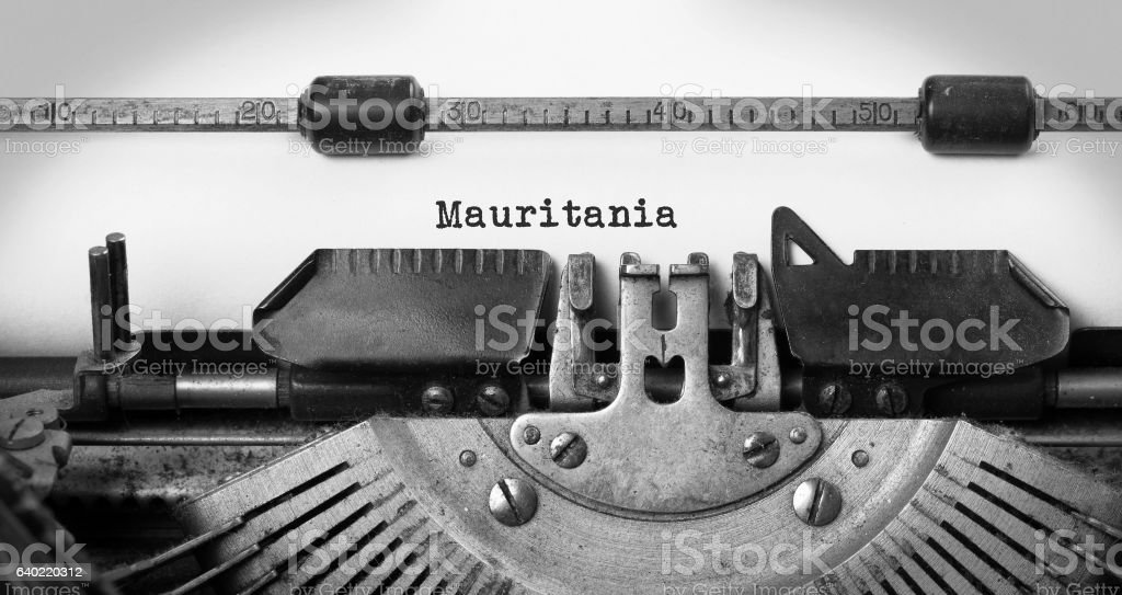 Old typewriter - Mauritania stock photo