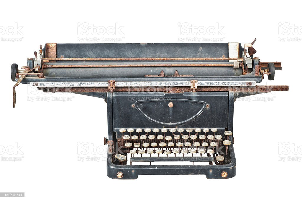 Old Typewriter - Mercedes royalty-free stock photo