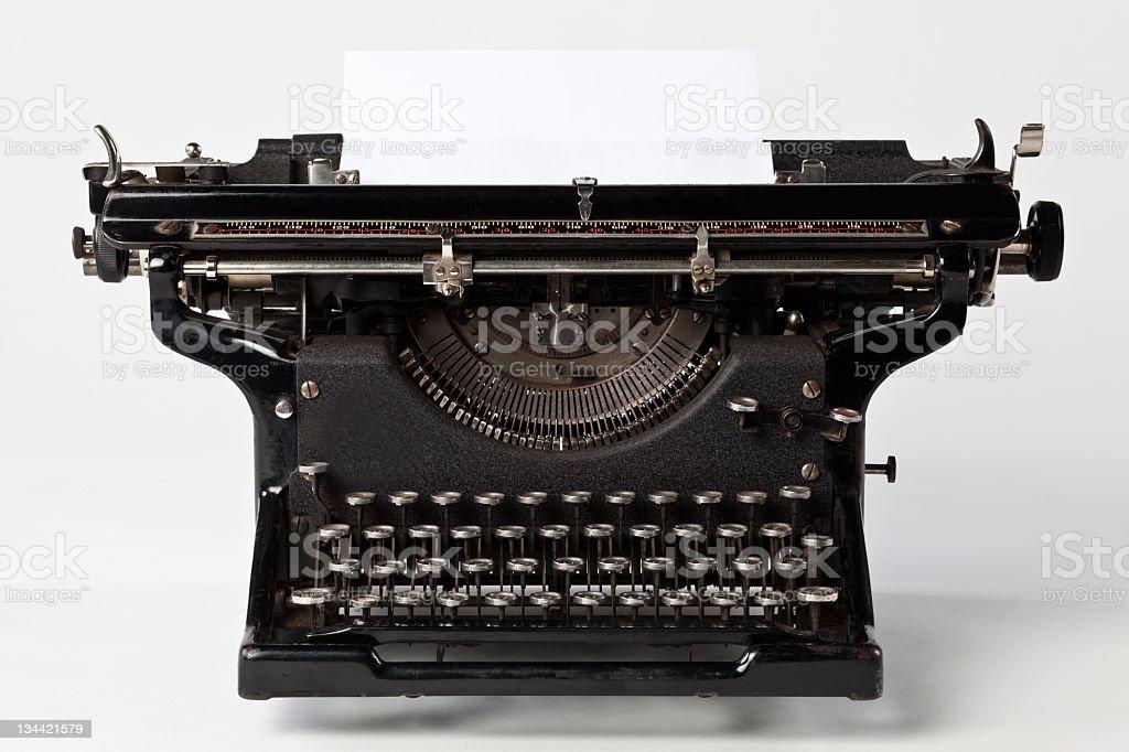 Old typewriter on white background. royalty-free stock photo