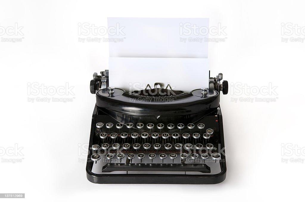 Old Typewriter royalty-free stock photo